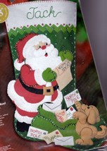 Bucilla Letters To Santa Mail Puppy Dog Christmas Felt Stocking Kit 85106 - $54.95