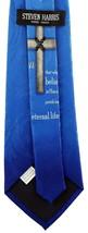John 3:16 Mens Neck Tie Religious Scripture Christian Jesus Christ Blue Necktie image 3