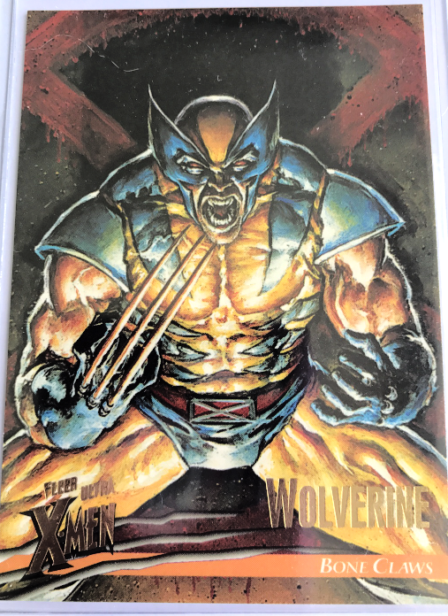 Fleer Ultra X-men Promo Card  Wolverine Bone claws  Trading Card