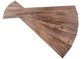 ROSEROSA Peel and Stick Engineered PVC Plank Wood Pattern Durable Vinyl Flooring