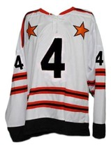 Bobby Orr #4 All Star Retro Hockey Jersey New White Any Size image 1