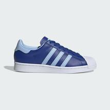 Adidas Hommes Originaux Superstar Chaussures Royal / Blanc Baskets Cuir - $150.56