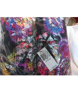 "Vera Bradley Fleece  Throw Blanket 80"" x 50"" in Midnight Wild Flower pat... - $42.00"