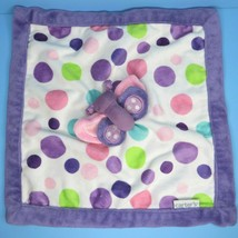 Carters Purple Pink Butterfly Plush Polka Dots Security Blanket Baby Lovey - $15.95