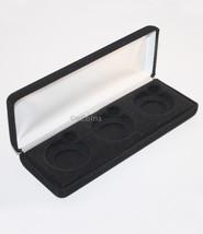 Lot Of 5 Black Felt Coin Display Gift Metal Deluxe Box For 3-Half Dollars Us Jfk - $34.55