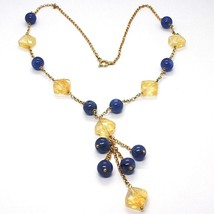 Silver 925 Necklace,Yellow,Quartz Citrine,Kyanite,Pendant Bunch image 1