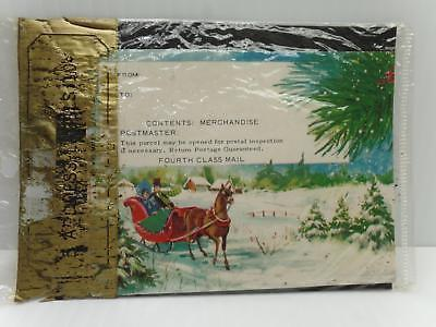 5 address labels 4th class mail xmas sleigh and 50 similar items 1 m4hsunfo