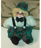 Tramp Clown with Porcelain Face and Cream Furry Hair - $9.99