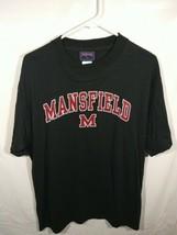Mens Jansport Tee Shirt Size Large Short Sleeve Black Mansfield College School - $39.99