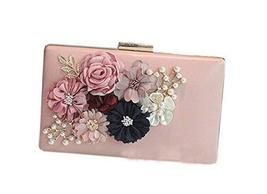 Handmade Beads and Flower Pink Bag Banquet Handbag and Fashion Shoulder Bags