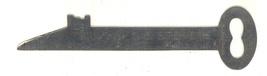 Wild Stevens printer type ruler vintage advertising Boston MA metal tool - $12.00