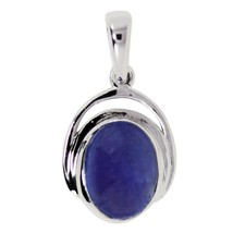 Oval Cab Tanzanite Gemstone 925 Sterling Silver Women Handmade Dangle Pe... - $33.27