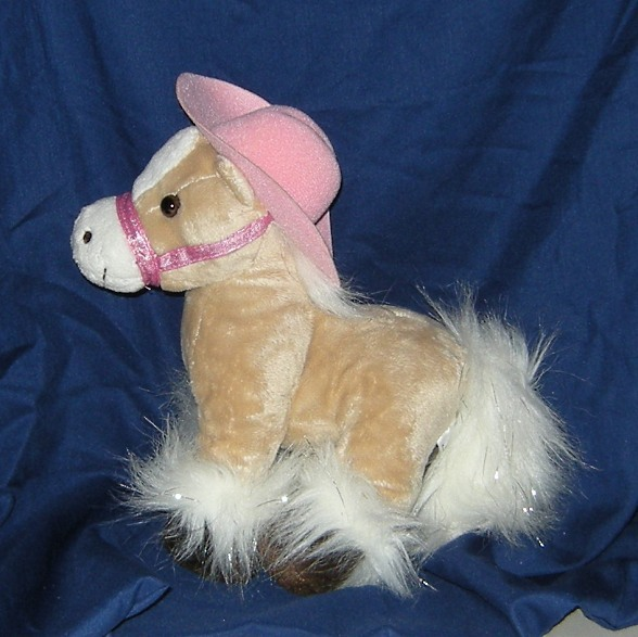 1/2 Price! My Fancy Friend and Me Plush Palomino Tan Pony Horse