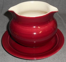 1940s Red Wing NORMANDY PATTERN Gravy Boat w/Attached Underplate - $39.59