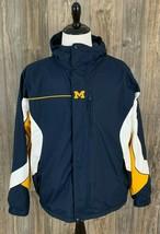 Columbia ~University Of Michigan Wolverines Winter Jacket XL Reversible Nylon  - $39.59