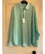 NWT ROBERT GRAHAM Aqua Purple Black Cotton Dress Shirt SZ 2XL - $98.01