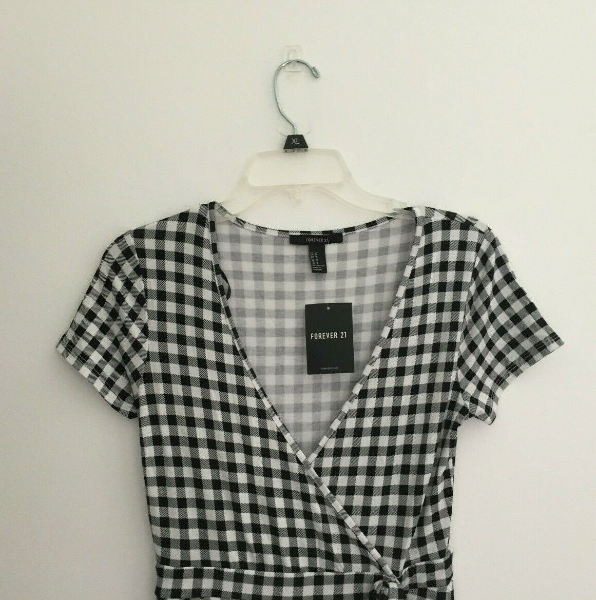 Forever 21 Black Plaid Romper sz Medium New NWT