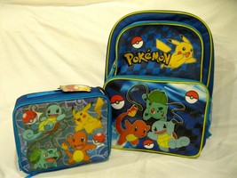 "Pokemon Pikachu 16"" Backpack with matching Pikachu Lunchbox-Brand New!VERSION3A - $148.49"