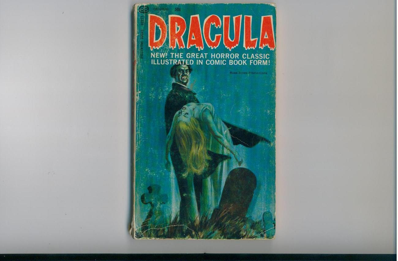 DRACULA - 1966 - illustrated in comic book form