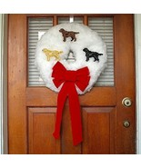 Labrador Retriever Christmas wreath - Elegance ... - $60.00