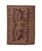 Levi's Men's Premium Leather Credit Card Id Wallet Trifold Brown 31LP1126