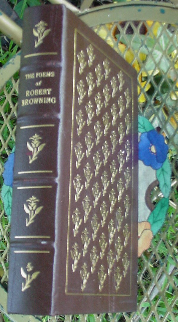 Poems of Robert Browning~Easton Press~HC, has flaws read condition info