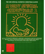 Keith Haring Art Print AD 1991 Very Special Christmas 2 Album Special Ol... - $10.99