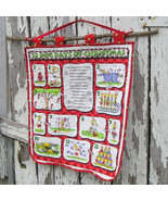 12 Dog Days of Christmas A Quilted Wall Hanging for Dog Lovers! - $48.00