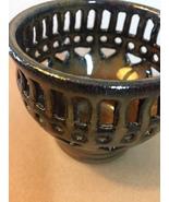Artisan Pottery: Filigree Candle Holder (RB12) - $15.00