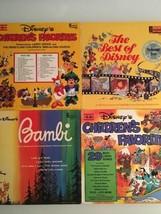 Walt Disney Lot Of 4 Vintage Vinyl Albums  - $39.60