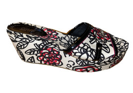 Coach poppy floral print wedge Shoes Size 7 New Without Box - $138.55