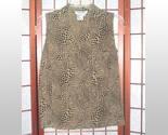 Allison taylor animal print silk sleeveless top sz s thumb155 crop