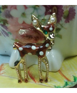 "Vintage Jewelry:; 1 1/4"" Tiny Doe Brooch 170902 - $9.99"