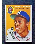 1954 Topps Baseball #128 Hank Aaron [] Milwaukee Braves (RC) Repro - $3.75