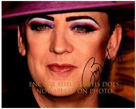 BOY GEORGE  Authentic Original  SIGNED AUTOGRAPHED 8X10 w/ COA 1335 - $60.00