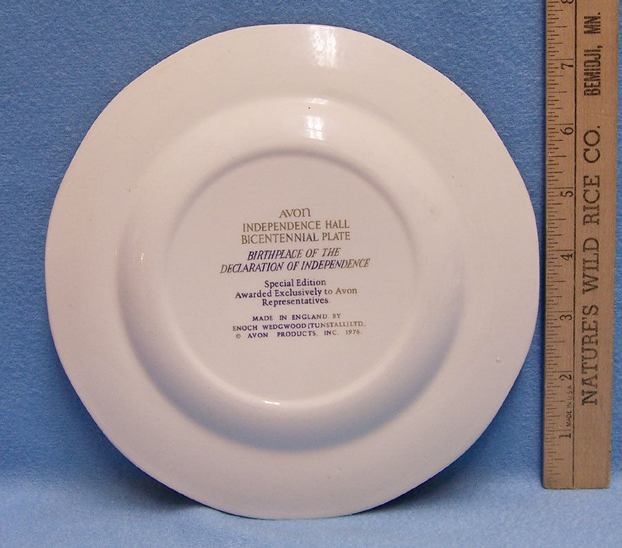 Vintage Avon 1976 Independence Hall Bicentennial Plate Representative Only image 2