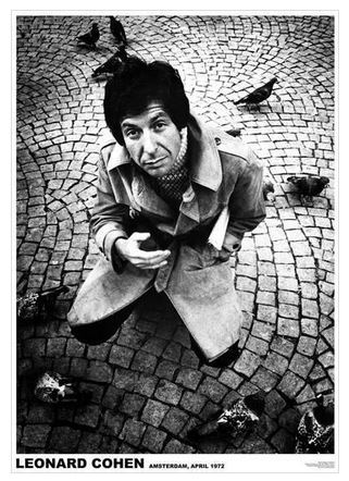 Leonard Cohen Poster 23 X 33 inches 1972 RARE OOP