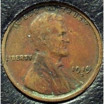 1919-S Lincoln Wheat Back Penny VF Details #0224 - $0.99