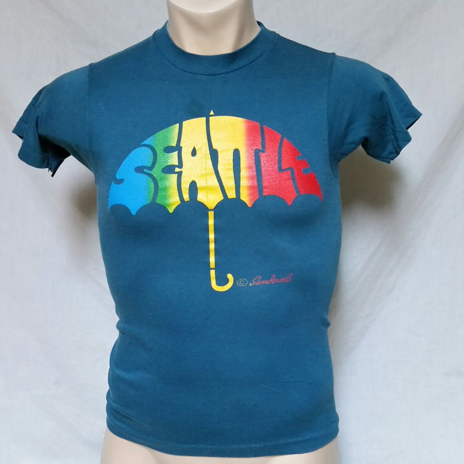 64f49955 VTG 70s Seattle Sandoval Umbrella T Shirt and 50 similar items