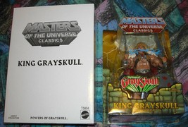 King Grayskull MOTUC Masters of the Universe Classics MOSC MOC He-Man Sk... - $94.00
