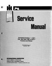 Cub Cadet IH 154 184 185 Lo Boy Service Repair Manual - $7.49