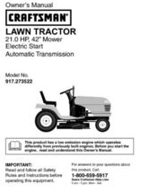 10 Sears Craftsman 21.5 HP Riding Mower Tractor Manuals - $7.99