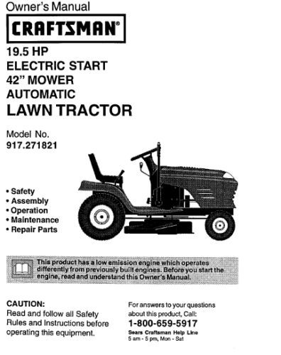 sears craftsman mower manuals free