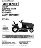 13 Sears Craftsman 19.5 HP Riding Mower Tractor Manuals - $7.99