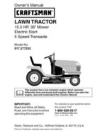 18 Sears Craftsman 15.5 HP Riding Mower Tractor Manuals - $7.99