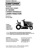 18 Sears Craftsman 16.5 HP Riding Mower Tractor Manuals - $7.99
