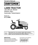 2 Sears Craftsman 19 HP Riding Mower Tractor Manuals - $7.99