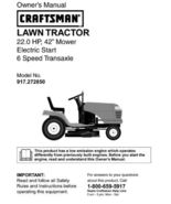 20 Sears Craftsman 22 HP Riding Mower Tractor Manuals - $7.99