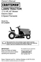 23 Sears Craftsman 17.5 HP Riding Mower Tractor Manuals - $7.99