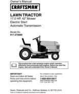 26 Sears Craftsman 17 HP Riding Mower Tractor Manuals - $7.99